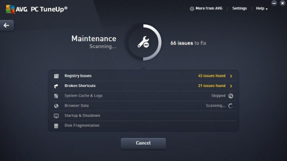 AVG PC TuneUp pc cleaner software