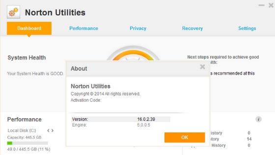 Norton Utilities pc cleaner software