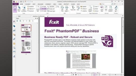 Foxit Phantom PDF Editor Software