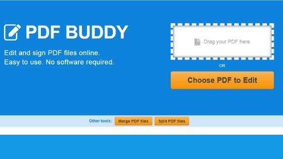 PDF Buddy Online PDF Editor Software