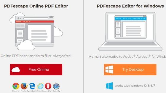 PDFescape Online PDF Editor Software