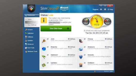 SlimWare Utilities SlimCleaner Plus - PC Optimizer Software