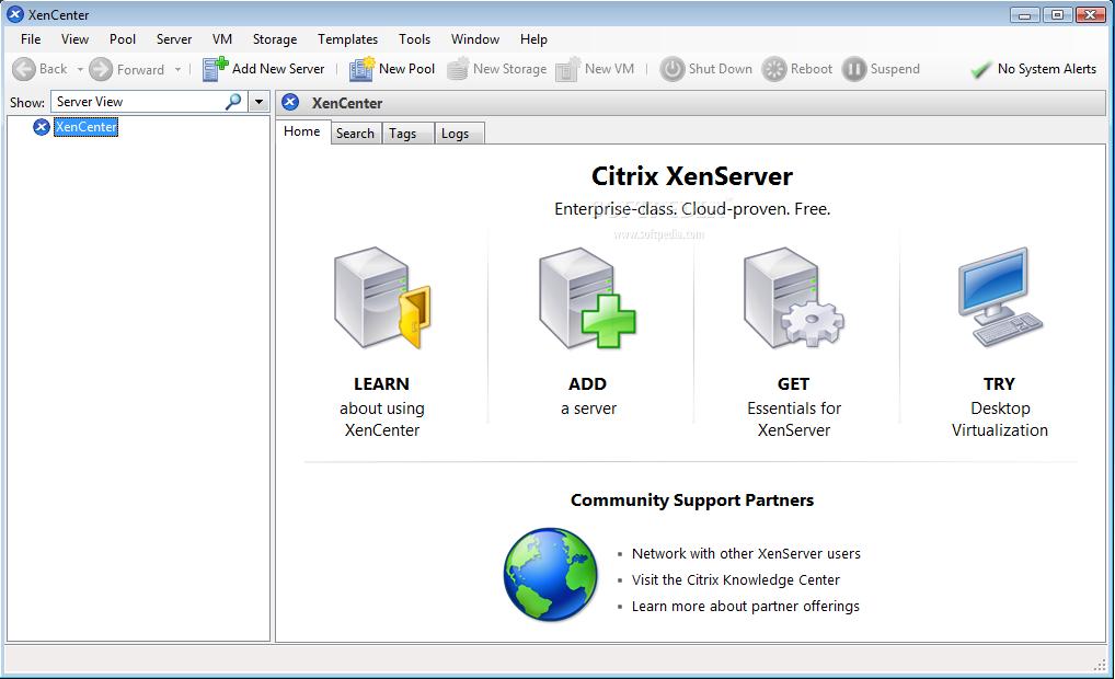 Citrix XenServer virtual machine software