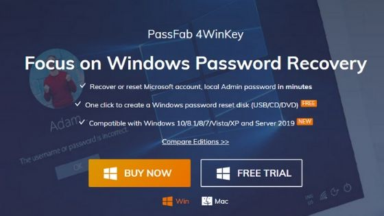 PassFab 4WinKey - Windows Password Recovery Software