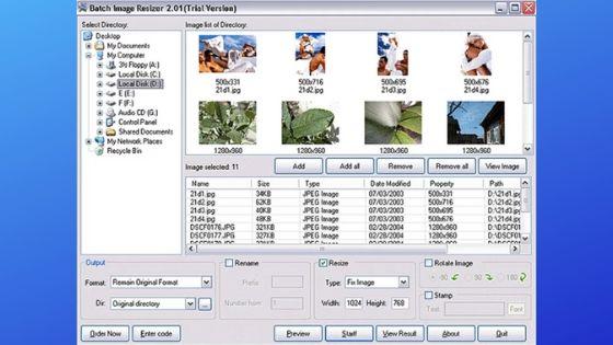 Batch Image Resizer Software for Windows
