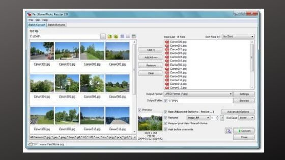 FastStone Photo Resizer Software