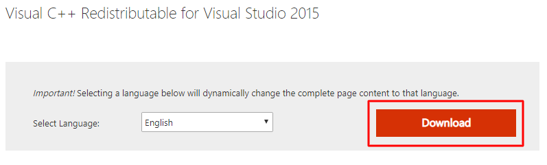 Visual C++ Redistributable for Visual Studio