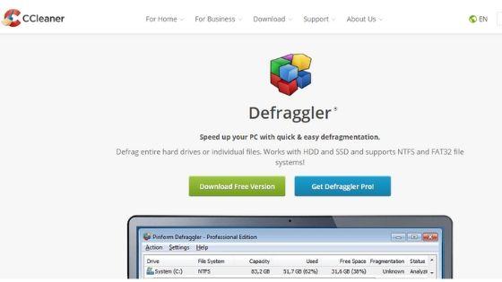 Defraggler best free defrag software
