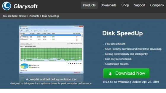 Disk Speedup free disk defrag software