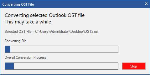 convert ost file