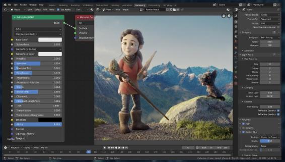 Blender 3D free 3d modeling software