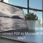 How to convert PDF to Microsoft Word on Mac