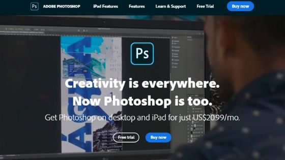 Adobe Photoshop logo maker software