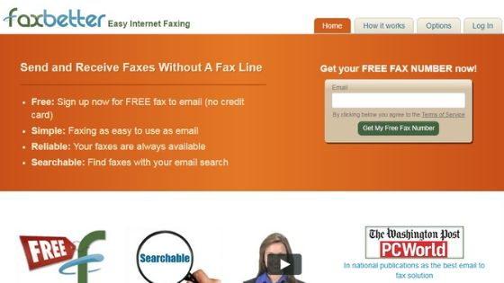 FaxBetter - free online fax service