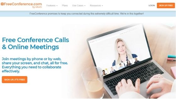 FreeConference free video conference software