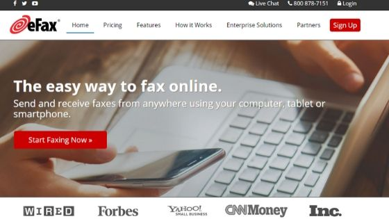 eFax - free online fax service