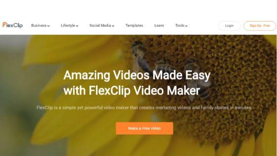 flexclip video maker software
