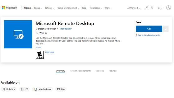 Microsoft Remote Desktop Software