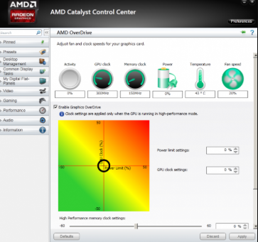 AMD Overdrive overclocking software