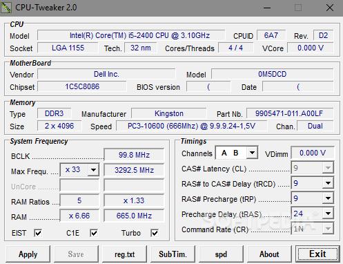 CPU Tweaker overclocking software
