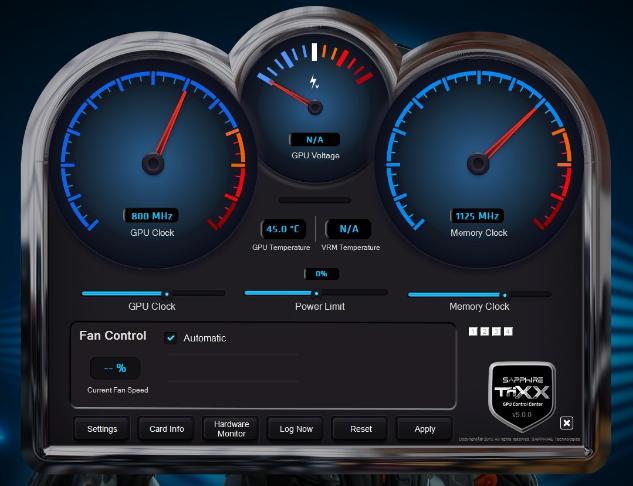SAPPHIRE TriXX Utility overclocking software