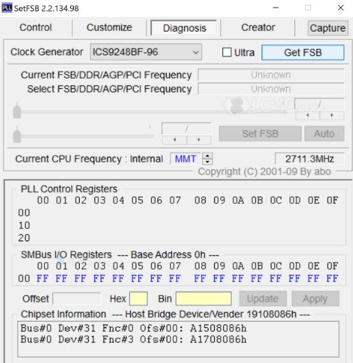 SetFSB overclocking software