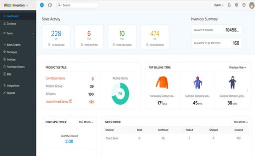 Zoho Inventory Management Software