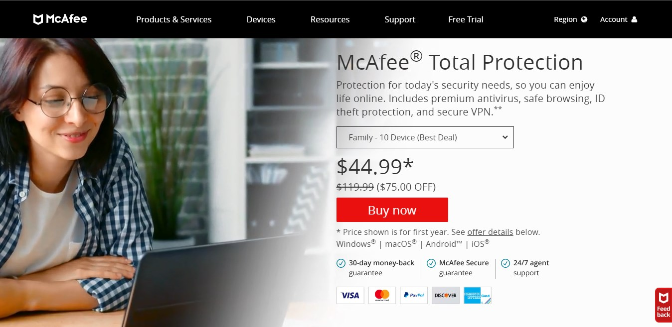 McAfee Total Protection multidevice Internet Security Software