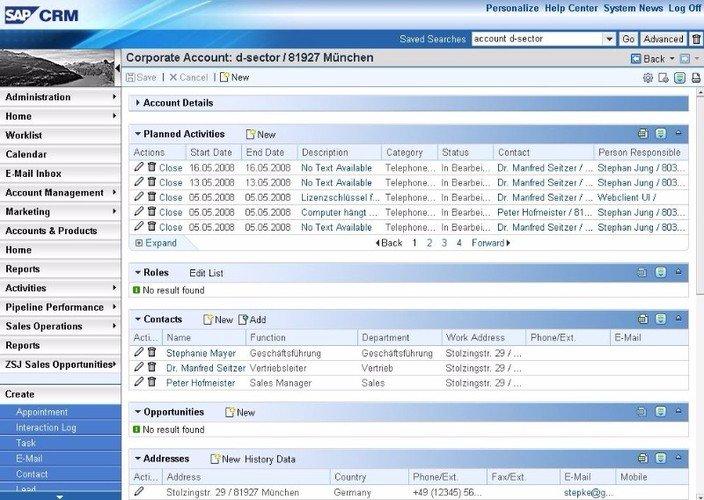 SAP CRM Software