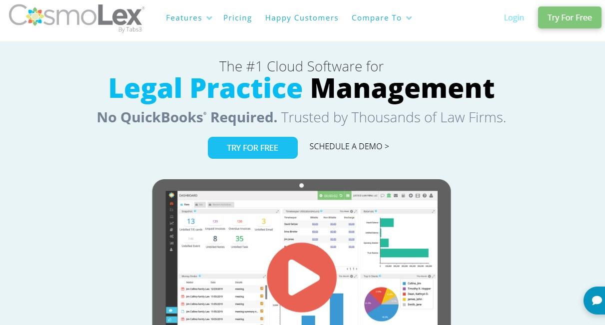 CosmoLex Legal Practice Management Software