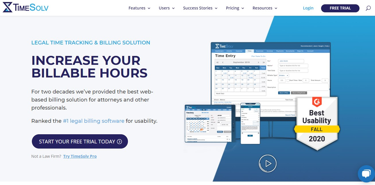 TimeSolv Legal Practice Management Software