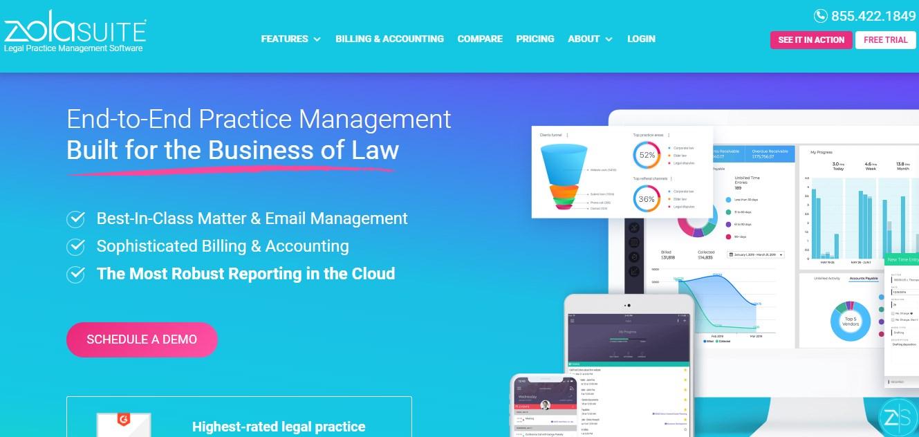 Zola Suite Legal Practice Management Software