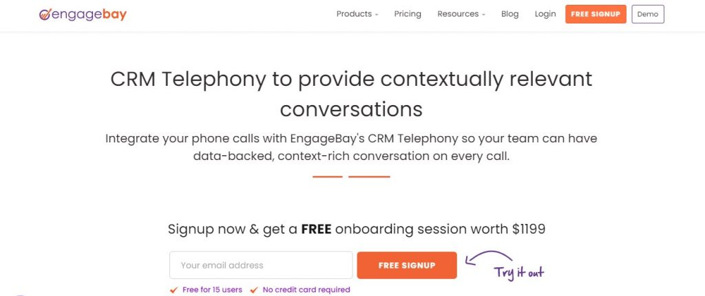 ENGAGEBAY Call Tracking Software