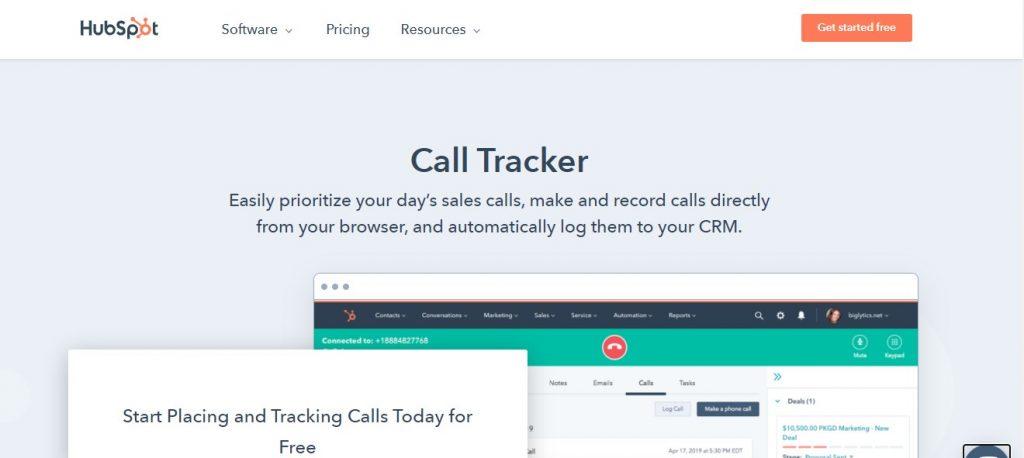 HUBSPOT Call Tracking Software