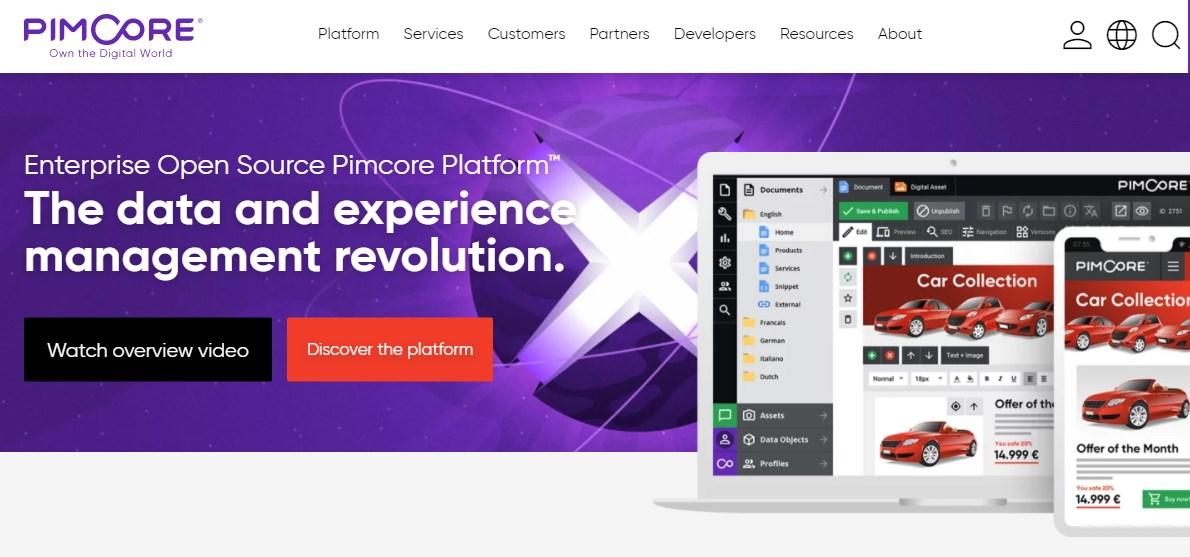 Pimcore Product Information Management Software
