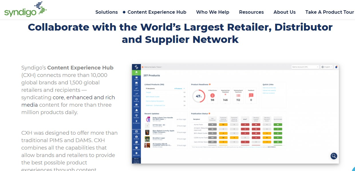 Syndigo Content Experience Hub Product Information Management Software