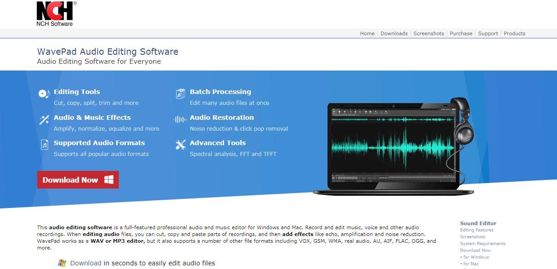 WavePad audio Windows 10 Equalizer