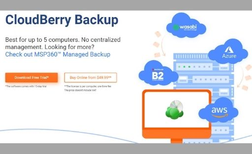 CloudBerry Backup software