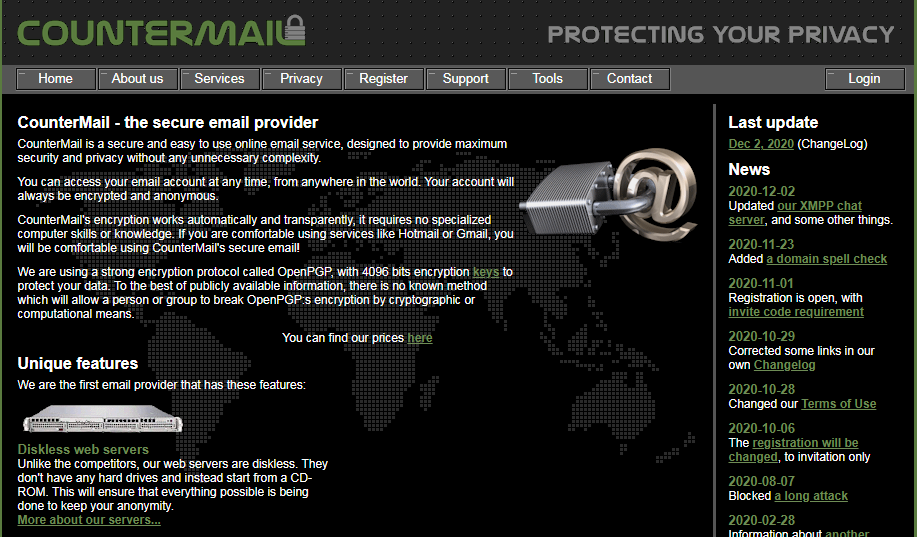 CounterMail secure email provider
