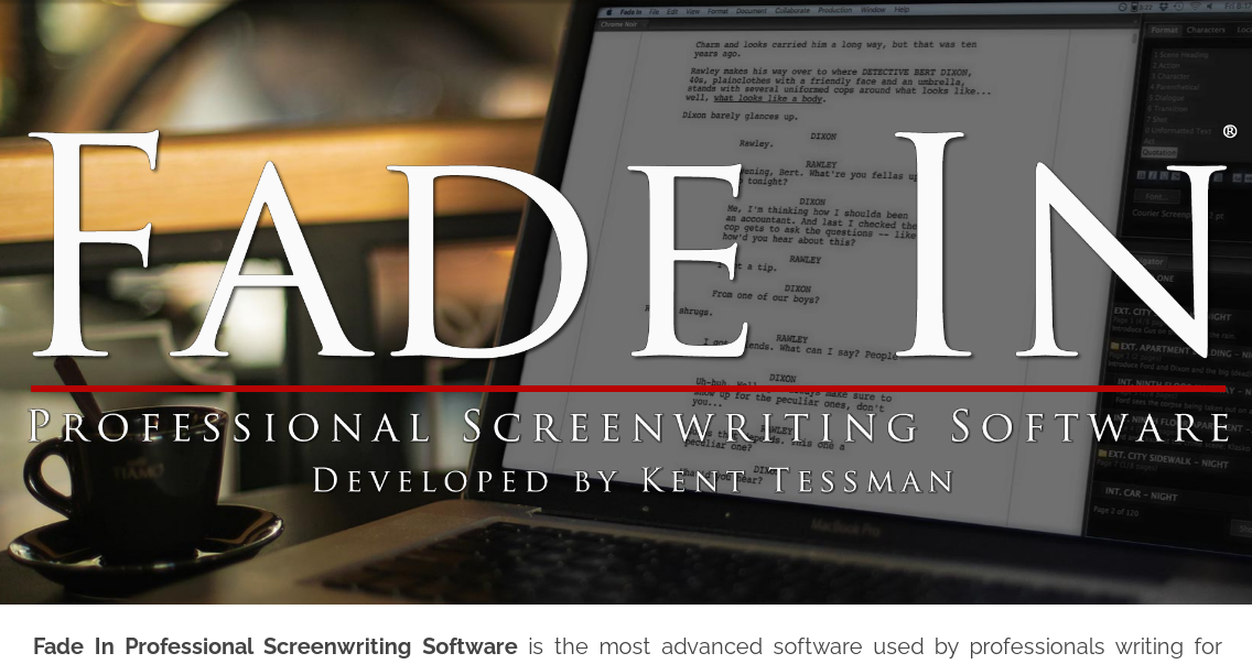 Fade In professional screenwriting software