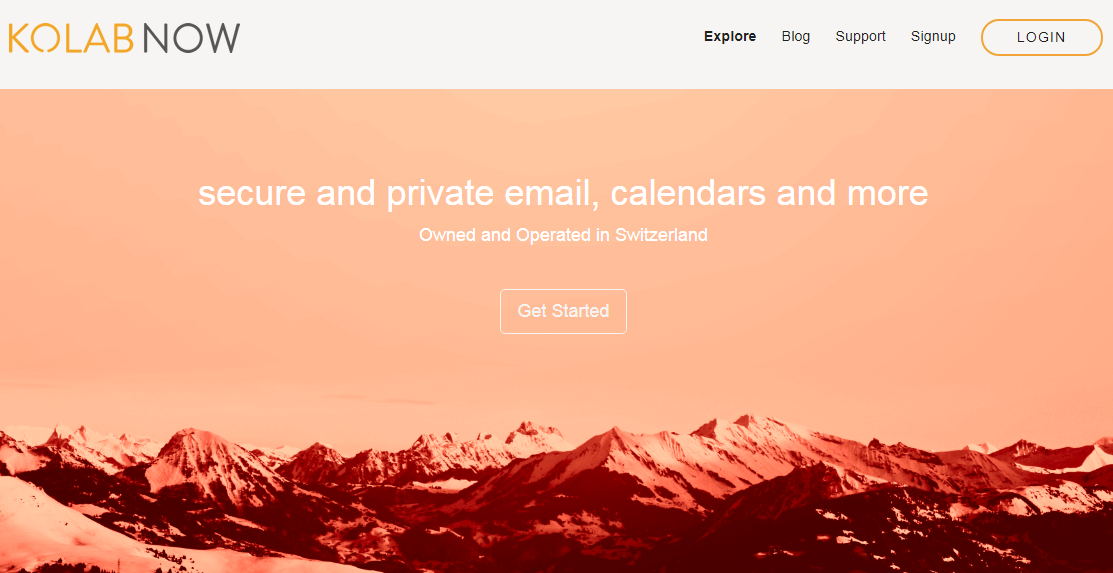 Kolab Now secure email provider