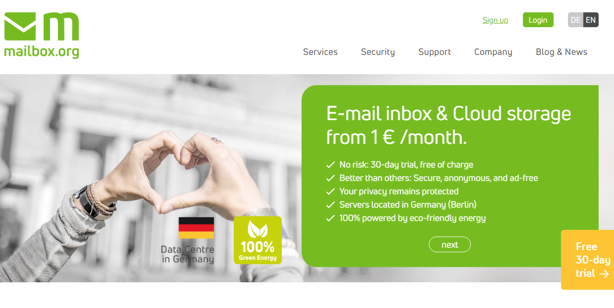 MailBox secure email provider