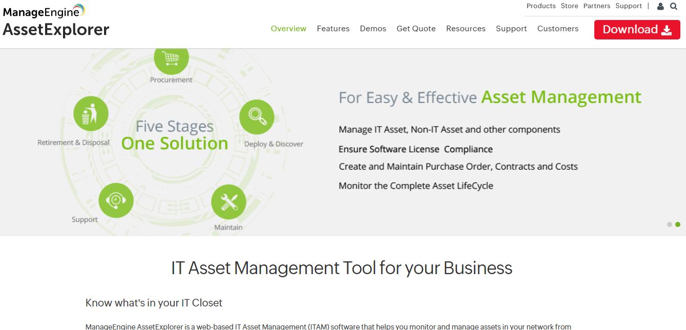 ManageEngine Asset Explorer asset management software