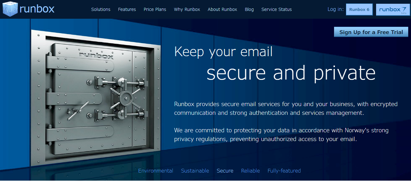 RunBox secure email provider