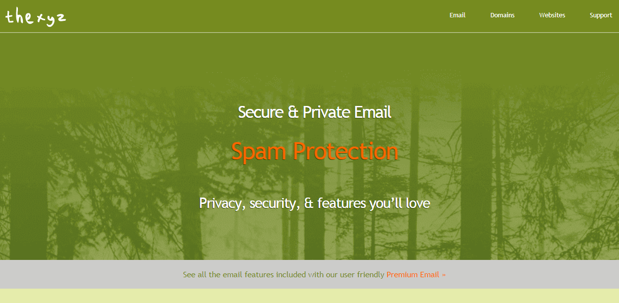 Thexyz secure email provider