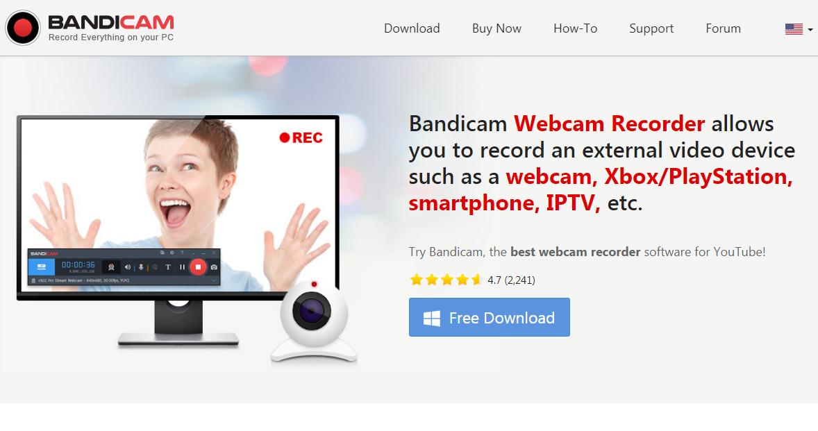 Bandicam Webcam Recorder software