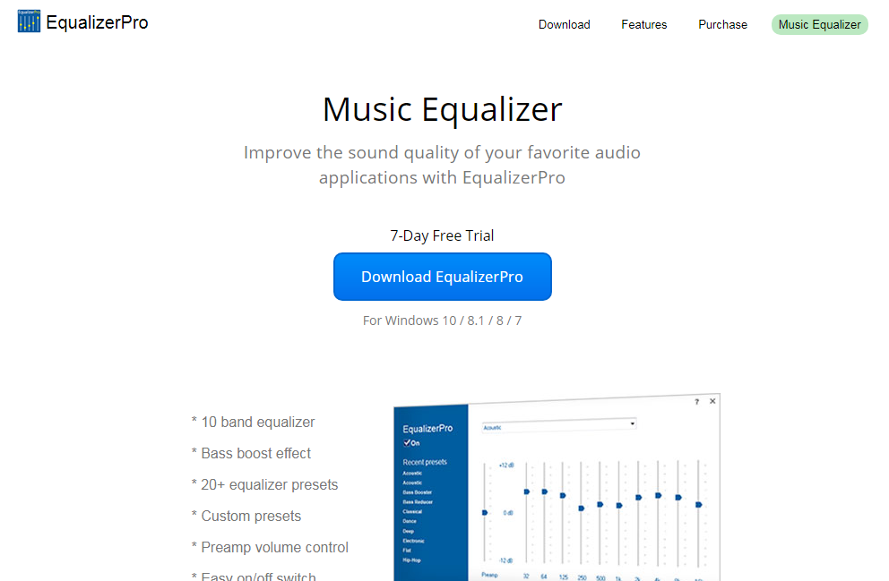 Equalizer Pro audio equalizer for windows 10