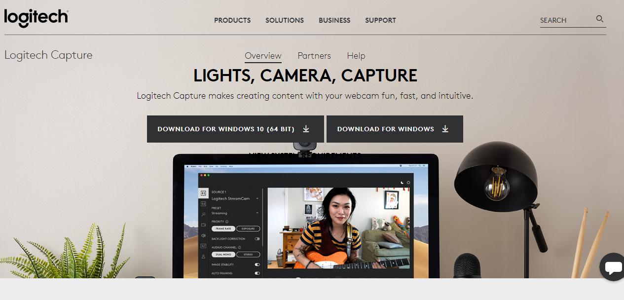 Logitech Capture webcam recording software