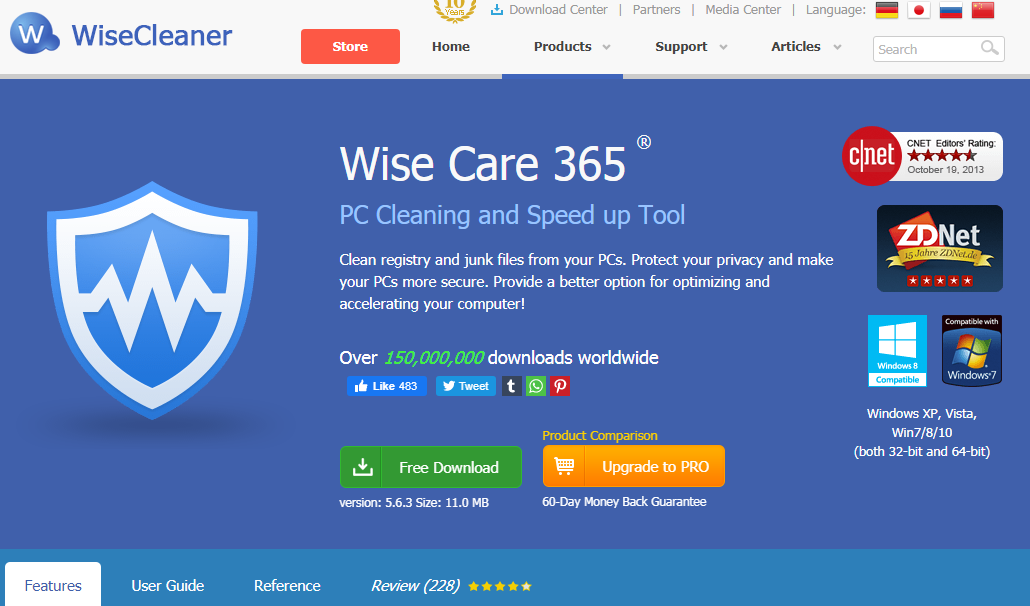 Wise Care 365 pc clean up