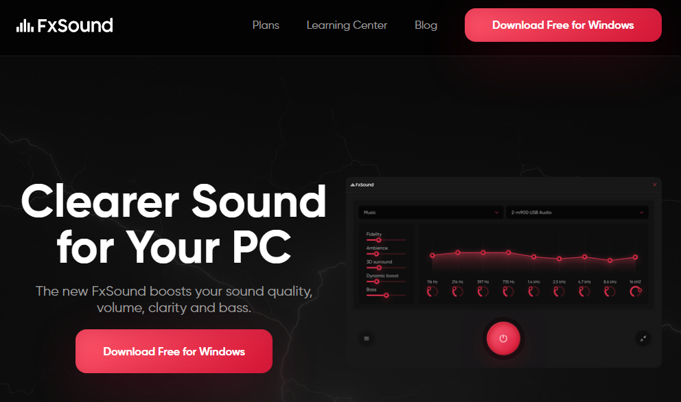 fxsound audio equalizer for windows 10